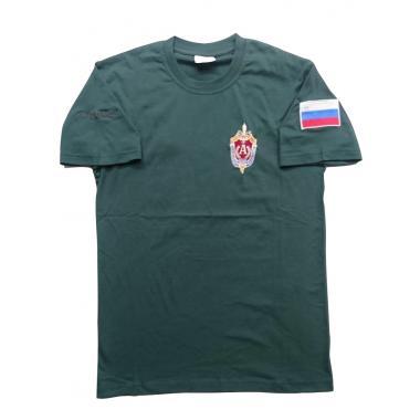 "Футболка ""Альфа"" ЦСН ФСБ РФ, вышивка, зеленый"