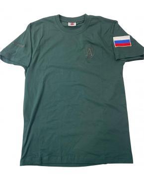 """Футболка """"Альфа Антитеррор"""" вышивка, зеленый"""