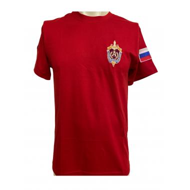 """Футболка """"Альфа"""" ЦСН ФСБ РФ, вышивка, красный"""