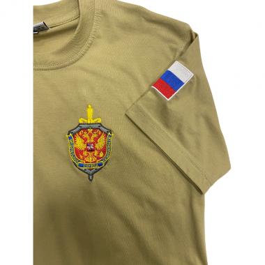 "Футболка ""ФСБ РОССИИ"" вышивка, хаки"