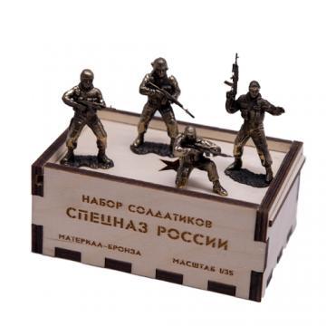 """Набор солдатиков """"Спецназ России"""" (4шт, 1:35)"""