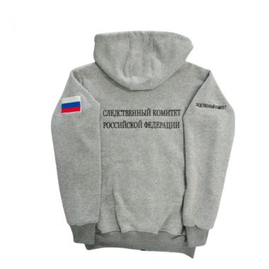 """Толстовка """"Следственный Комитет РФ"""" вышивка, меланж"""