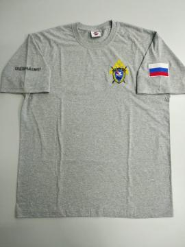 "Футболка ""Следственный комитет РФ"", вышивка, меланж"