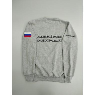 """Свитшот """"Следственный комитет РФ"""", вышивка, меланж"""
