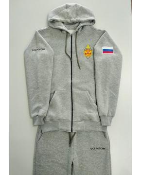Спортивный костюм ФСБ России, вышивка, меланж
