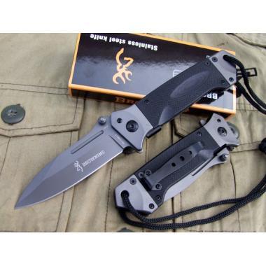 Нож складной тактический BROWNING DA73, черный