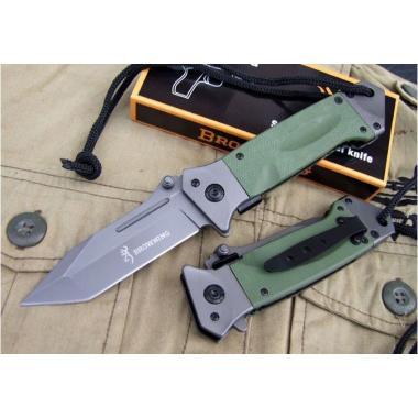 Нож складной тактический BROWNING DA73, олива