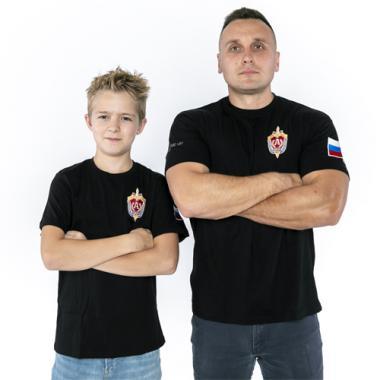 """Футболка детская """"Альфа"""" чёрная"""