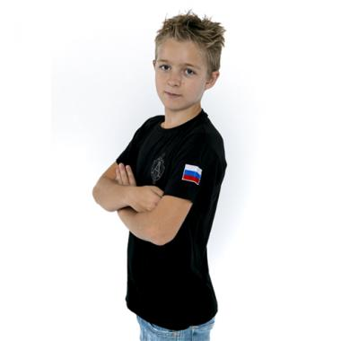 """Футболка детская """"Антитеррор"""" чёрная"""