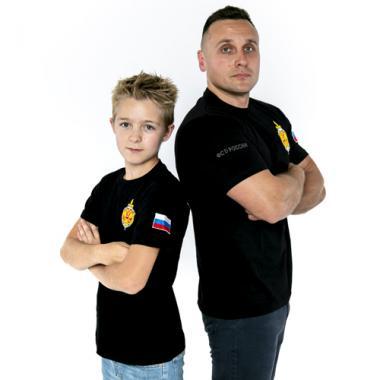 """Футболка детская """"ФСБ РОССИИ"""" чёрная"""