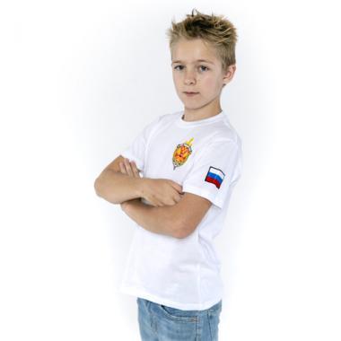 """Футболка детская """"ФСБ РОССИИ"""" белая"""