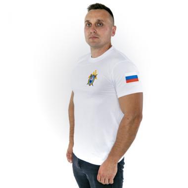 """Футболка """"Следственный комитет РФ"""" белая (вышивка)"""