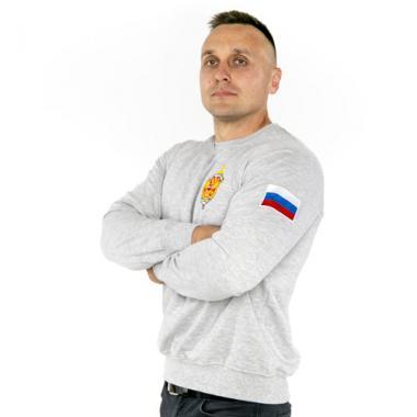 "Свитшот ""ФСБ РОССИИ"", вышивка, меланж"