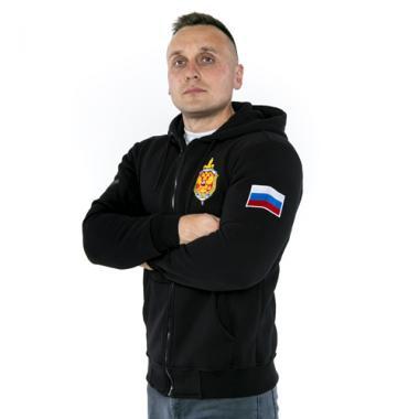 """Толстовка """"ФСБ РОССИИ"""", вышивка"""