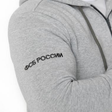 "Толстовка ""ФСБ РОССИИ"" вышивка, меланж"