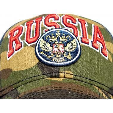 Бейсболка с сеткой Россия (милитари)