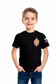 """Детская футболка """"ФСБ"""" чёрная"""