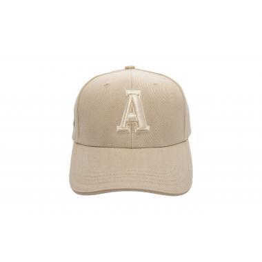 """Бейсболка """"А"""", темная вышивка, цвет: койот"""