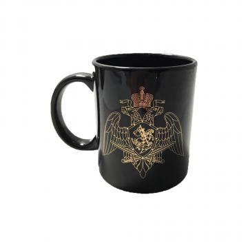 Кружка Росгвардия, золотая эмблема