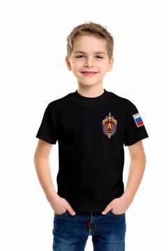 """Детская футболка """"Альфа"""" чёрная"""