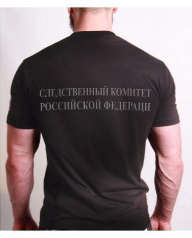 """Футболка """"Следственный комитет РФ"""" черная (вышивка)"""